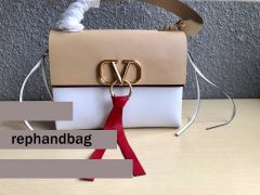 AAA+ Valentino Vring Leather Crossbody Chain Bag