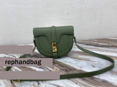 High Quality Celine Small green Besace 16 Bag in satinated calfskin