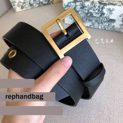 Christian Louboutin Replica 3.4cm Black Spiked Leather Belts