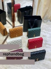 Replicas Saint Laurent Becky Large chain bag in quilted lambskin